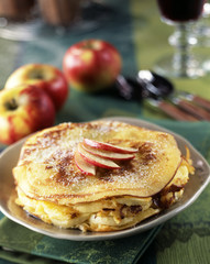 pancake and apple mille-feuille