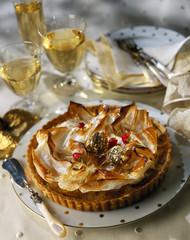 crunchy chestnut tart
