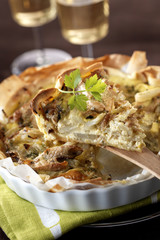 mackerel  quiche