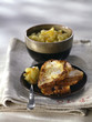 french toast with stewed apples