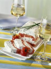 cheese,herb and tomato terrine