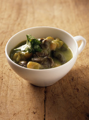 snail and grenailles soup