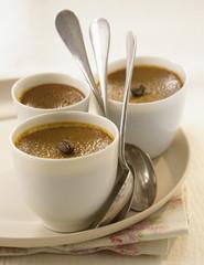 small coffee cream desserts