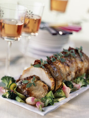 roast pork with sage and vegetables