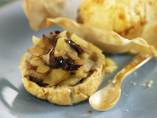 plum and apple puff pastry tartlet
