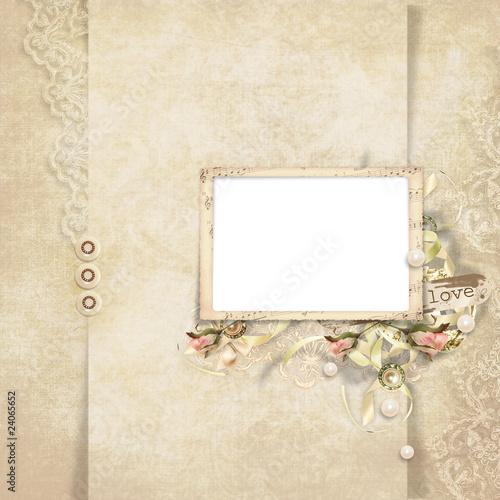 In de dag Retro Old frame on elegant vintage background