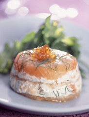 smoked salmon and fromage frais terrine