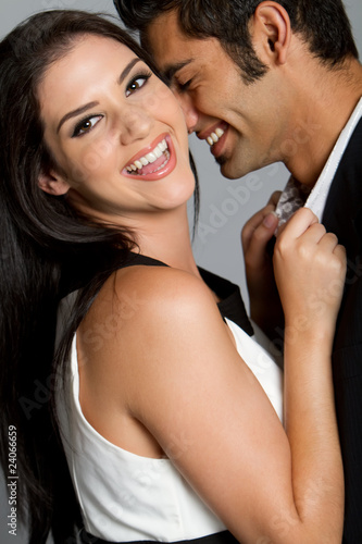 Happy young ethnic couple