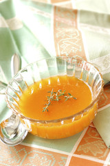 apricot and thyme soup