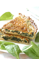 spinach and salmon tart