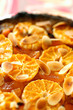 clementine and dried apricot tart