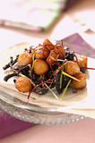 caramelized petoncle scallops