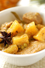 veal curry with pineapple, lime and coconut milk