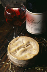 vacherin and red wine