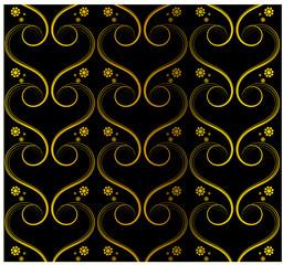 Tapete schwarz gold