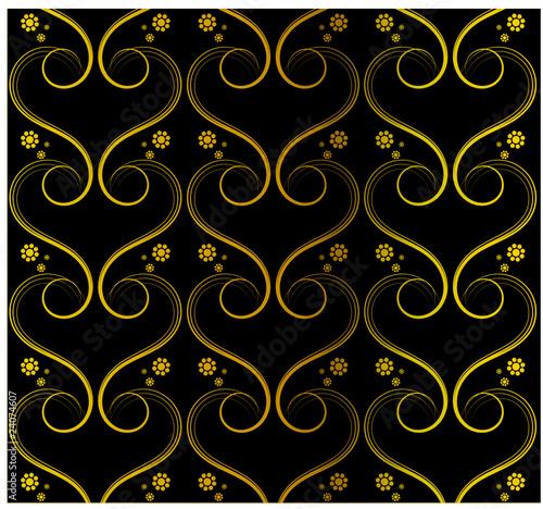 tapete schwarz gold von virtua73 lizenzfreier vektor 24074607 auf. Black Bedroom Furniture Sets. Home Design Ideas