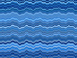 Wavy blue color stripes abstract background.