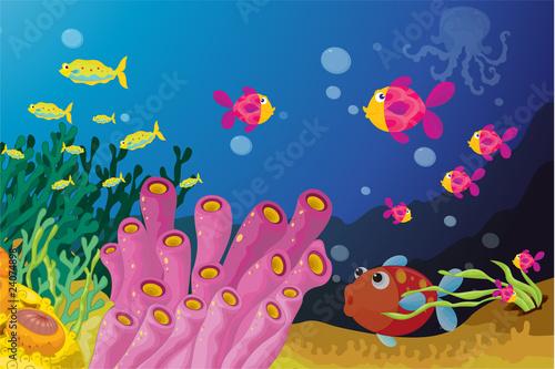 Fotobehang Onderzeeer Deep water