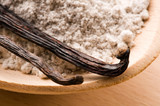 vanilla beans with aromatic sugar poster