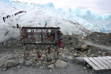 crampons stand and glacier