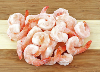 Frozen Shrimp Cutting Board