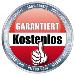 Garantiert kostenlos - 100% Gratis - Button