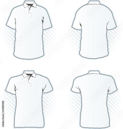 shirt design template. Polo shirt design template set; Polo shirt ...