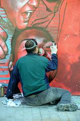 Graffiti artist in the work 2