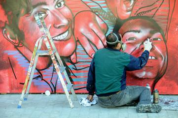 Graffiti artist in the work 1