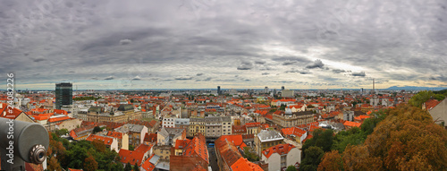 panoramic view of Zagreb
