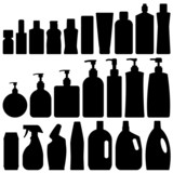 Bathroom Bottles Silhouette Vector
