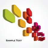 Fototapety colorful 3d cubes - abstract background