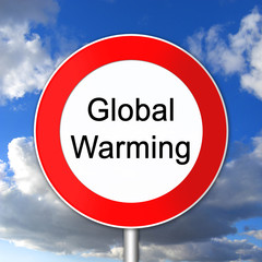 global warming, climate change, sign