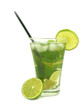 mojito drink on white background