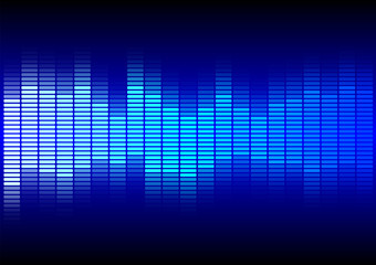 Abstract Background  - Blue Equalizer