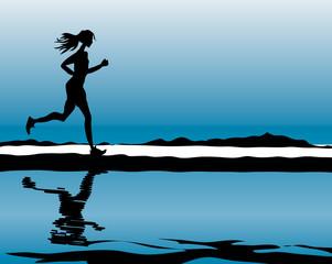 Sport & Fitness running woman health life illustration
