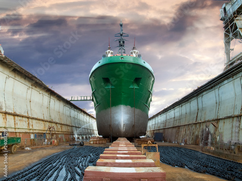 canvas print picture Graving dock