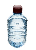 Purified spring water in the bottle poster