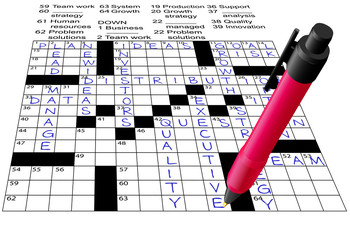 Business Plan Answers Crossword Puzzle Pen