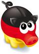 sparschwein schwarz rot gold