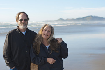 Retired Couple at the Beach