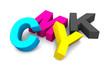 3D - CMYK Buchstaben - liegend
