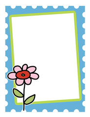 Whimsical Flower Template Background 8.5x11 ready for your text