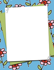 Flower Template Background 8.5x11 ready for your text