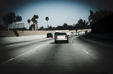 Cars on freeway California