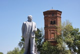 monument Lenin in the Perm region, Russia poster