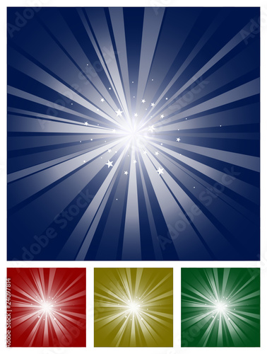Sparkling Star Light Burst