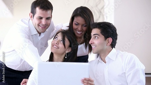 Business group with a laptop