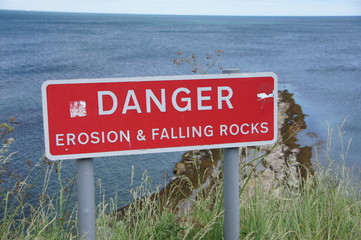 erosion & falling rocks