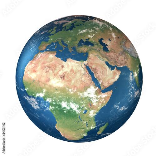 Plexiglas Planet Earth: Europe, Africa